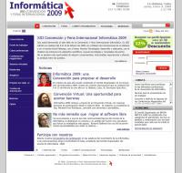 Sitio Web del evento Informática, desarrollado en Cuba